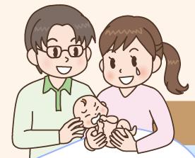パパ・ママと対面、カンガルーケア